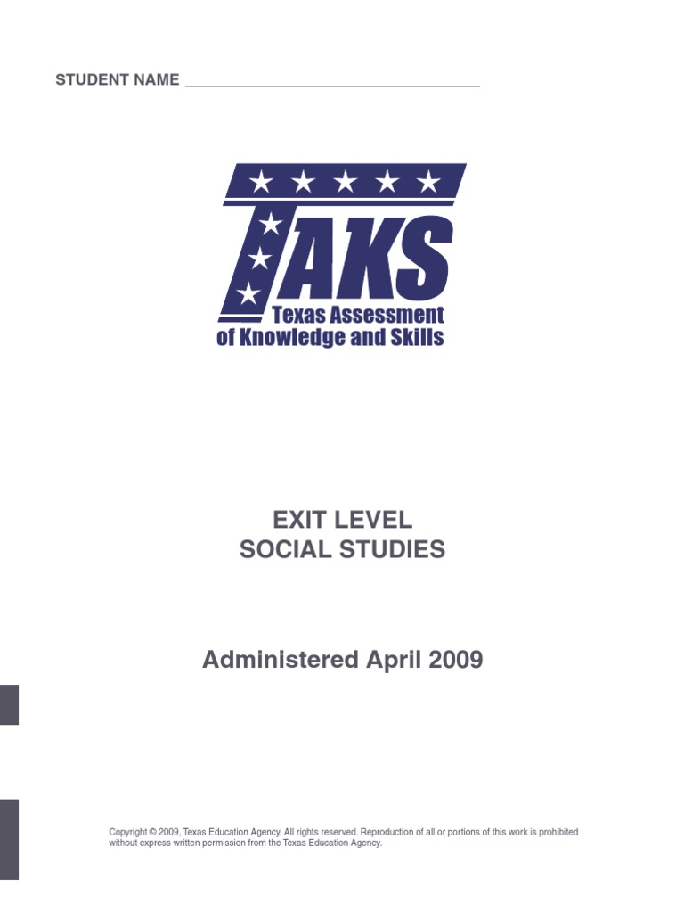 Social Studies Texas TAKS With Answers 2009   The United States   Geography