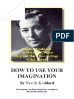 How To Use your Imagination - The Secret by Neville Goddard