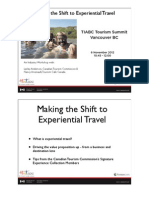 Experiential Travel - A Business and Destination Lens