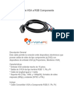 Cable Vga a Rgb Componente 2011 Tecnologia de Punta
