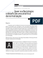 A Teoria Queer e a Sociologia- o desafio de uma analise da normalização Richard Miskolci