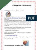 Ajaran Agaa Islam Menyambut Bayi