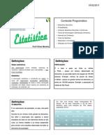 Estatística Descritiva - aula 1
