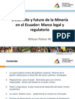 Desarrollo y Futuro de La Mineria en El Ecuador Marco Legal y Regulatorio