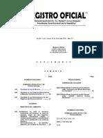Ley Minera Publicada en Registro Oficial