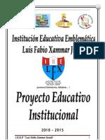 Proyecto Educativo Institucional Lfxj 2010-2015