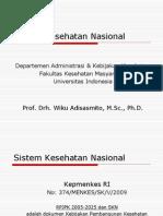 Sistem Kesehatan Nasional 2009