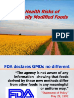 Best Risks of GMO - Clear and Present Danger