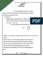 Hypothesis Calculation