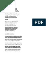 Lirik Bertanya Dan Lima Ekor Anak Ikan