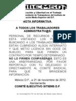 Nota Informativa Contrato Determinado