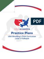 Folkstyle Wrestling Level 1 Practice Plans