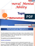 General Mental Ability Mathematical Operations