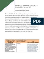 SLMP Evaluation/Action Plan/Principal Memo