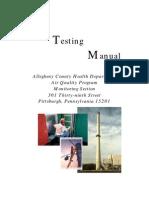 Source Test Manual