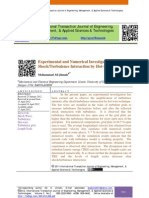 Experimental and Numerical Investigation of Shock/Turbulence Interaction by Hot-wire Technique