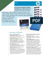 HP LTO Media Data Sheet