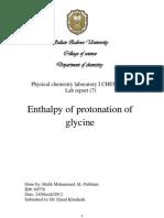 Enthalpy of protonation
