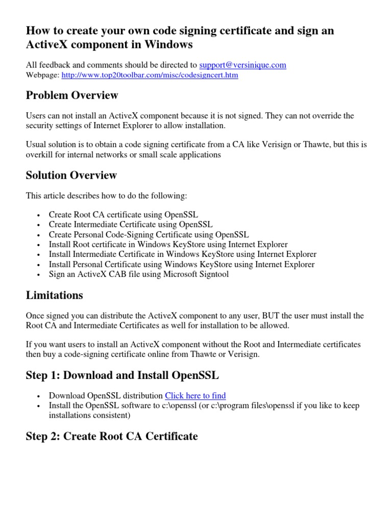 How to create your own code signing certificate and sign an how to create your own code signing certificate and sign an activex component in windows public key certificate internet explorer xflitez Choice Image