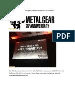 แฟนๆ เฮ! Metal Gear ผันตัวสู่จอภาพยนตร์ Hollywood เรียบร้อยแล้ว