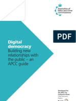 Digital Democracy, Building New Relationships with the Public for PCCs