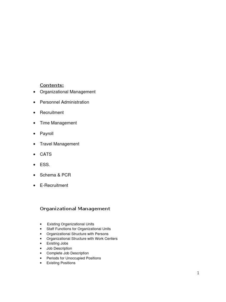 Sap hr config all recruitment human resource management sciox Choice Image
