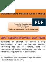 Substantive Patent Law Treaty