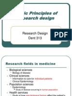 (1) Basic Principles of Research Design