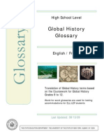 Global History Bilingual Glossary French-English