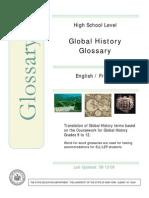 Global History Bilingual Glossary French-English