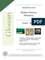 Global History Bilingual Glossary Spanish-English