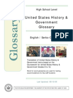 US History Government Bilingual Glossary Serbo Croatian-English
