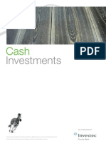 Investec Private Bank Cash Investments Fact Sheet