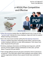 Keeping Your 401(k) Plan Competitive And Effective