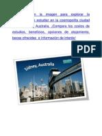 Descubre la experiencia de estudiar en La Cosmopolita Ciudad de Sidney en Australia
