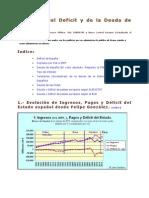 Evolución del Deficit y de la Deuda de España