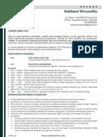Resume - Cv Rakhmat Wirayudha