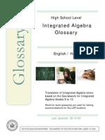 Algebra Bilingual Glossary Haitian-Creole-English
