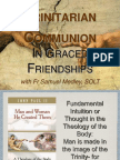 Theology of the Body in Cardiff - Trinitarian Communion in Graced Friendships
