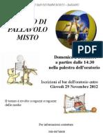 2012.12.02 - Torneo pallavolo