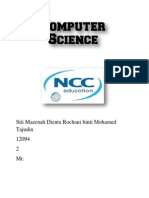 Computer Science File Cover