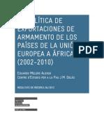 LA POLÍTICA DE EXPORTACIONES DE ARMAMENTO DE LOS PAÍSES DE LA UNIÓN EUROPEA EN ÁFRICA (2002-2010)