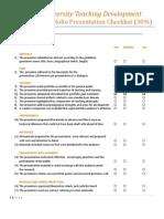 Portfolio Presentation Checklist