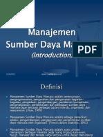 Kuliah Teori Manajemen Sdm 09