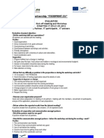 Evaluation Summary for Project Partners_Kick Off Meeting_Workshop I