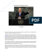 The Holocausts of Benjamin Netanyahu