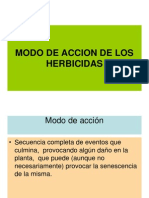 Modo de Accion de Los Herbicidas 2011