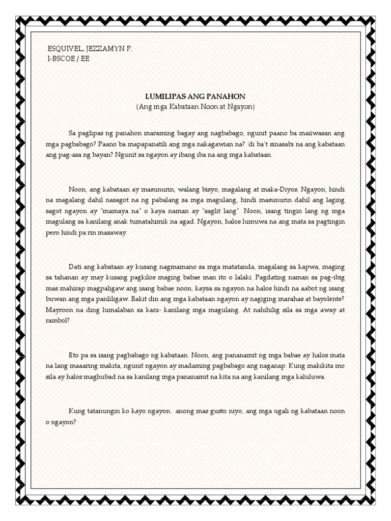 ang mga impormasyon tungkol sa polusyon Inihalintulad nito ang bansang singapore na mahuli ka lang na nagtapon ng bubble gum ay tiyak na diretso ka sa kulungan, sa bansang canada na kapag hindi segregated ang basura mo ay hindi ito kukunin ng mga nangungulekta, sa korea ay malaki ang multa kung hindi mo itatapon sa designated garbage dump.