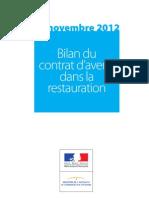 Bilan Du Contrat d'Avenir Dans La Restauration