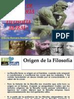 Origen de Filosofia y Filosofia Moral